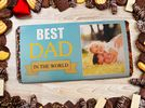 Personalised Fathers Day Super Gift Bundle N1 - Mug, Chocolate Bar & Bottle Label